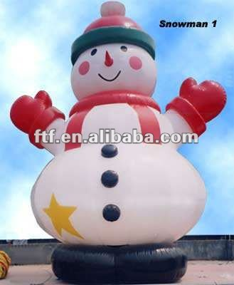 Outdoor inflatable holiday Snowman cartoon