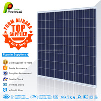 Powerwell Solar 200 watt polycrystalline silicon solar module photovoltaic with CEC/IEC/TUV/ISO/INMETRO/CE certifications