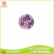 Round 25mm Single Hole Decoration Glass Bead