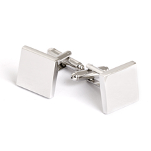 Bulk silver plain cufflinks brass men's jewelry cufflink