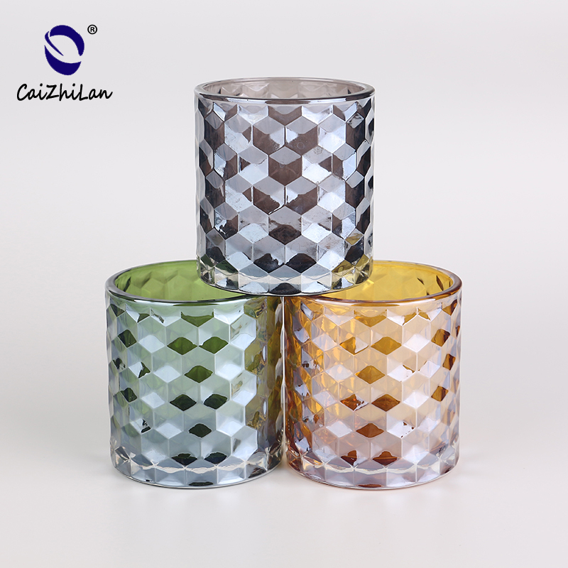 New Hot High Quality Large Capacity Frosted Glass Candle Holder