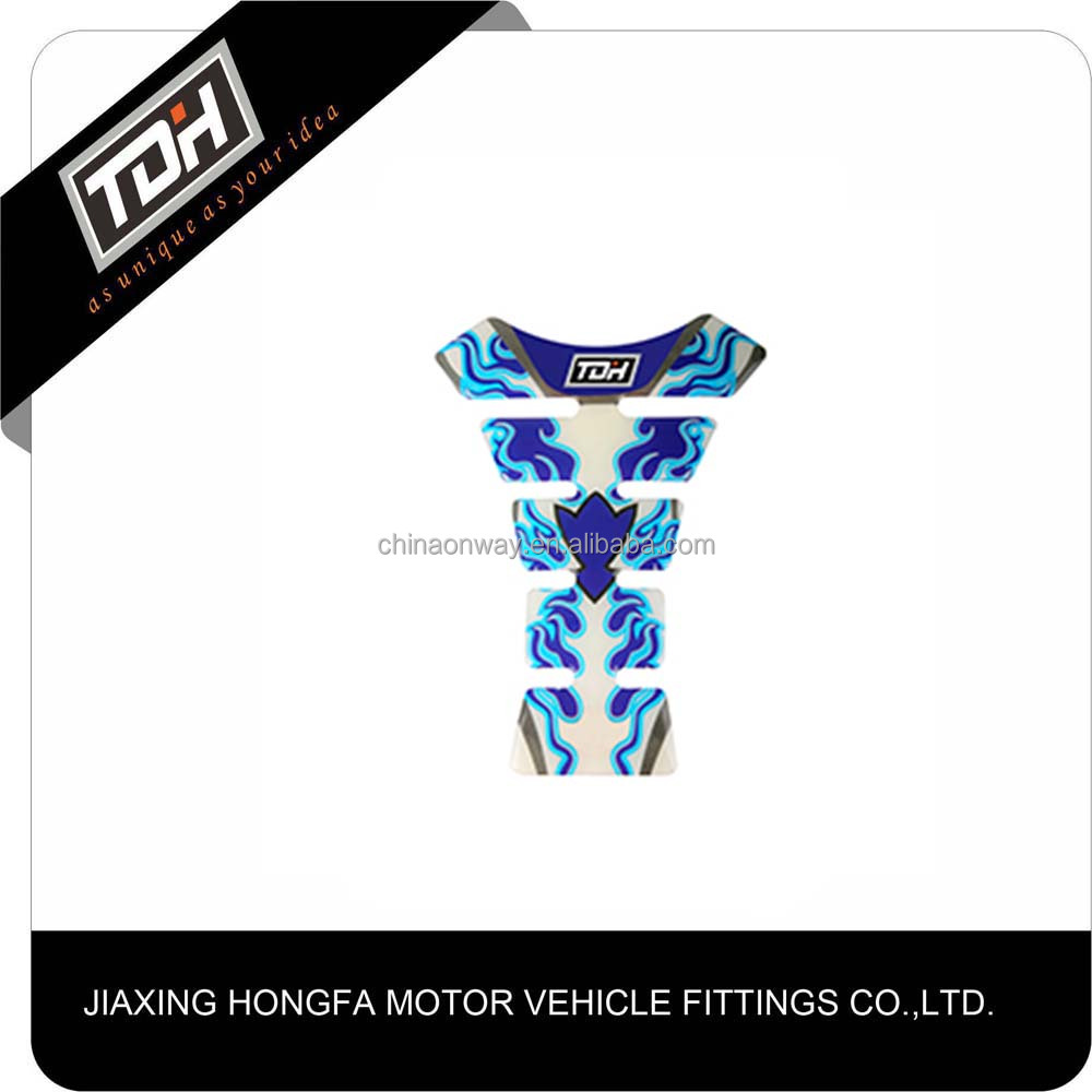 Motorcycle Gel Oil Gas Fuel Tank Pad Protector Sticker Decal Fit