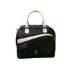Black PU leather golf boston bag