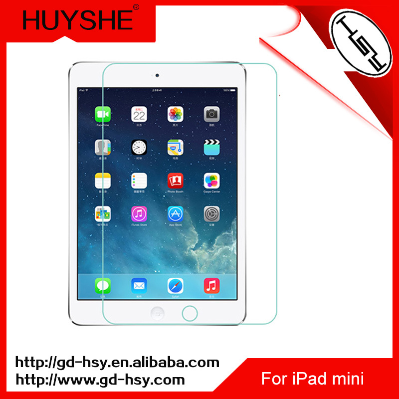 HUYSHE high quality tempered glass sapphire screen protector for ipad mini