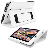 Snugg case for Nexus 7 Case Cover and Flip Stand in White Leather