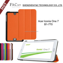 Flip case tablet foldable back standing tab case for acer Lconia one 7 B1-770