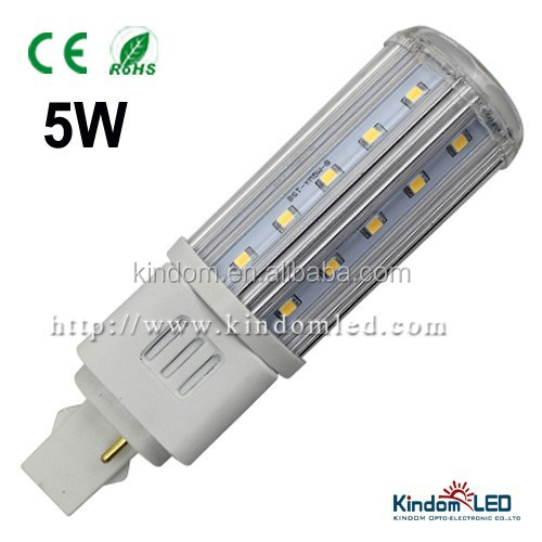 CE RoHS 360 degree 5W G24 2 pins 4pins LED plug Light