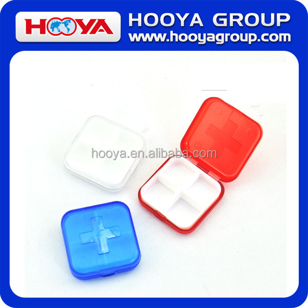6.5*6.5*2.15cm Pill Box/4 Compartment Capsule Box