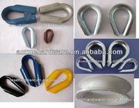 WITH OR WITHOUT WELD WIRE ROPE TUBE THIMBLE,aluminium thimble,