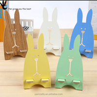 Pan cell phone retail display stands bunny shape wood phone standswood phone stands