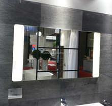Left and Right Sides Wide Sandblasted LED Backlit Bathroom Mirror
