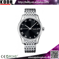 Japan movt quartz watch men 3 atm stainless steel back watch