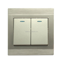 high grade PC two gang 1 way electric wall switch