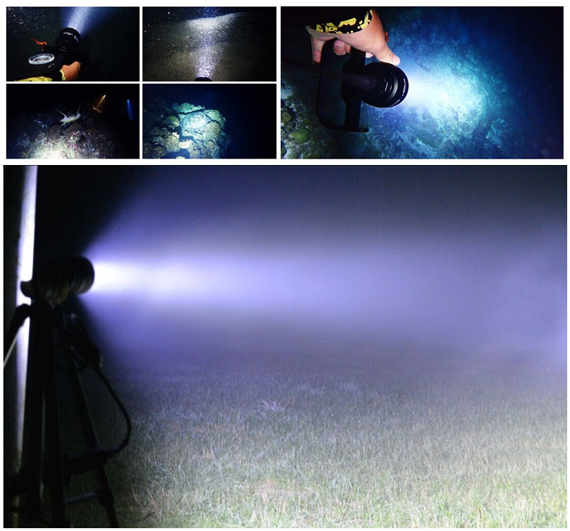150m Underwater Sidemount Scuba Led Powerful Canister Diving Light