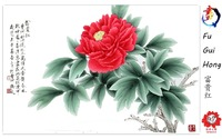He ze peony house decoration peony handmade gifts with wooden box and collection certificate