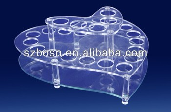 Heart shaped acrylic test tube holder;Acrylic pen stand;Acrylic pen display;