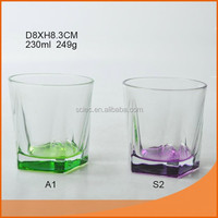 colored whisky wine glass cup