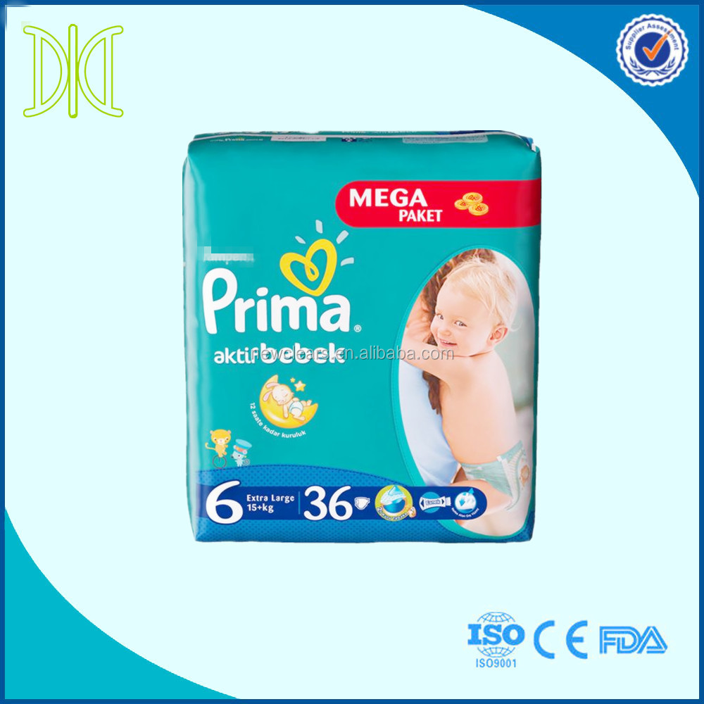 Prima diapers baby disposable baby nappy diapers pants manufacturers in China