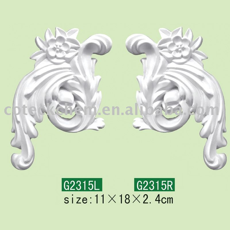 PU Ornamental accents /plaster corbels/building material/substitution of gypsum plaster/construction mold materials/wall niche