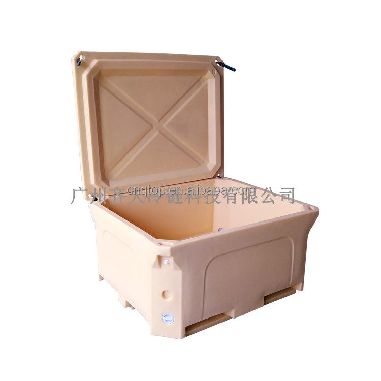 460L large travel ice box fish cool box Orange ice box coolers