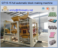 QT15-15 hydraulic large capacity concrete paving block making machine price