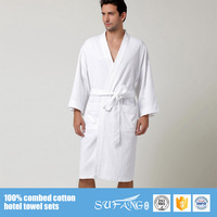 quick-drying heated bathrobes,long sleeves terry western bathrobe for man,waffle hotel bathrobe 100% cotton
