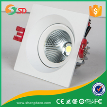 Square Round 20W Office Lighting Ip44 8 Inch Led Retrofit Recessed Downlight