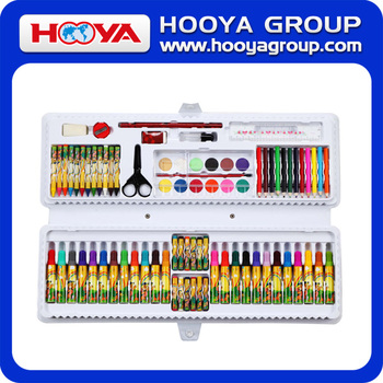 85pcs High Quality school Kids drawing set promotional stationery painting set