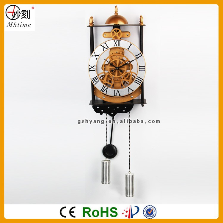 Skeleton Gear Wall Clock Popular for Home Decoration with design patent