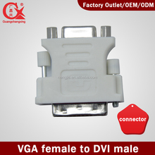 Nickel Plated VGA to DVI (24+5)adapter