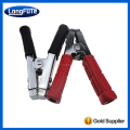 Red/Black 500 Amp Steel Parrot Jaw Booster Clamp with Non-Slip Vinyl-Coated Hand Grips