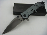 OEM outdoor folding knife with 440 stainless steel blade and Aluminum holder