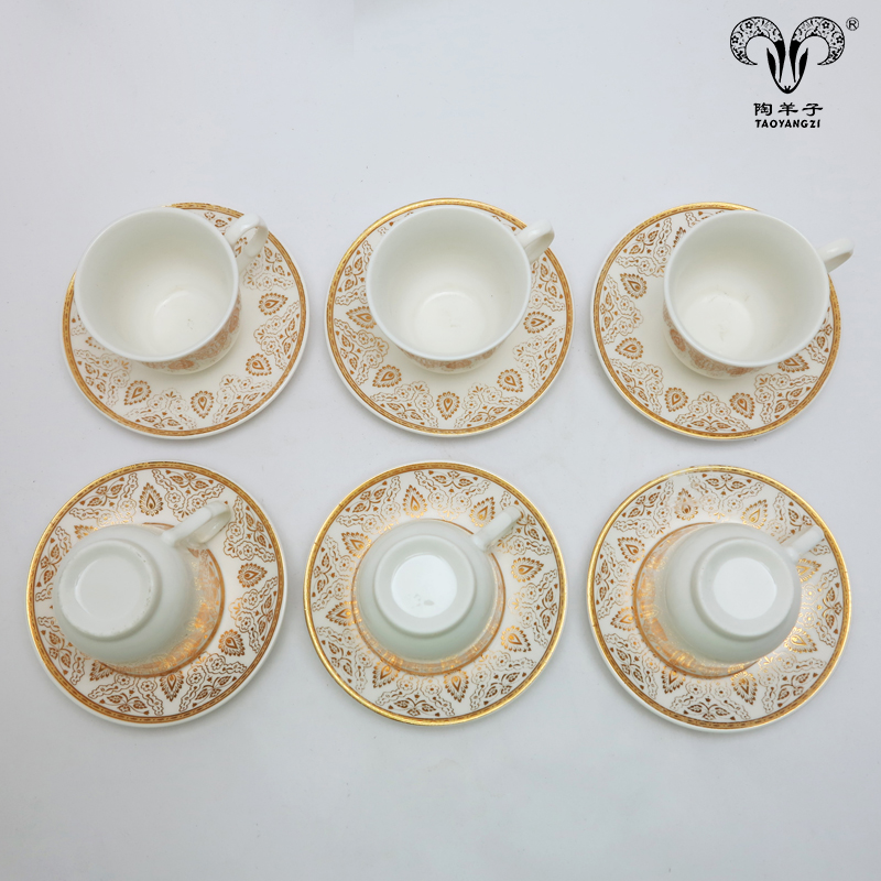 Chaozhou factory wholesale new style bulk tea <strong>cups</strong> and saucers with cheap price