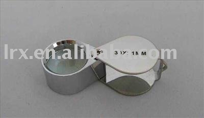 30 * 21mm Glass Magnifying Magnifier Jeweler Loupe Loop