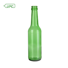 wholesale top quality green recycled 330ml glass beer bottles