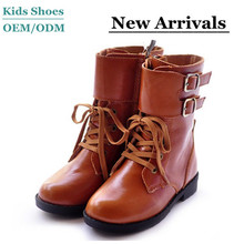 2014 New Arrival kids leather winter boots ladies unique winter boots