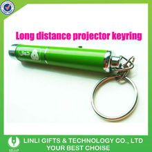 battery replacement led projection keychain