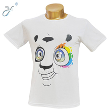 Custom Colored Panda Pattern Printed Promotion T Shirt