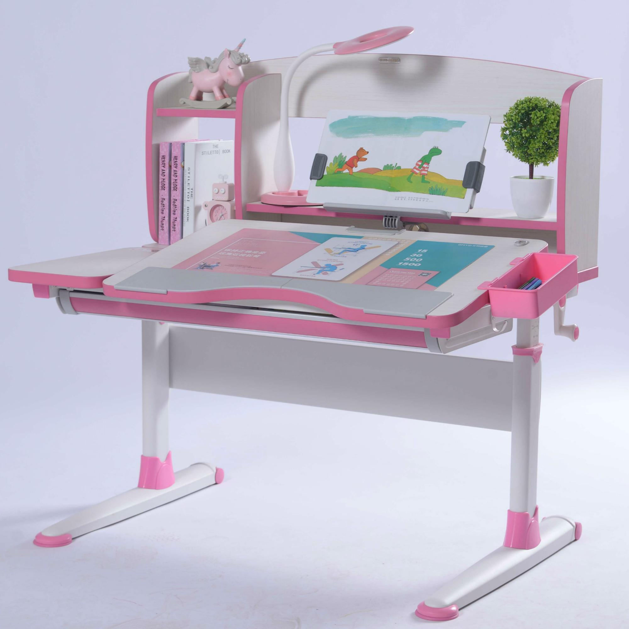 Height adjustable study desk for children