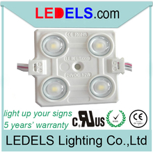 led sign light,IP65 waterproof ,5 years warranty,24v 1.2w 88lm everlight 4-leds 2835 injection ul listed led module