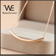 New Design Pretty Fashionable 316L Stainless Steel Women's Bar necklace Rose Gold Plated Female Wholesale
