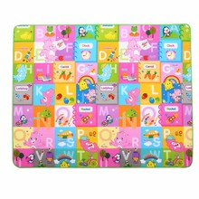 Single sided print kids eco-friendly kids folding play mat
