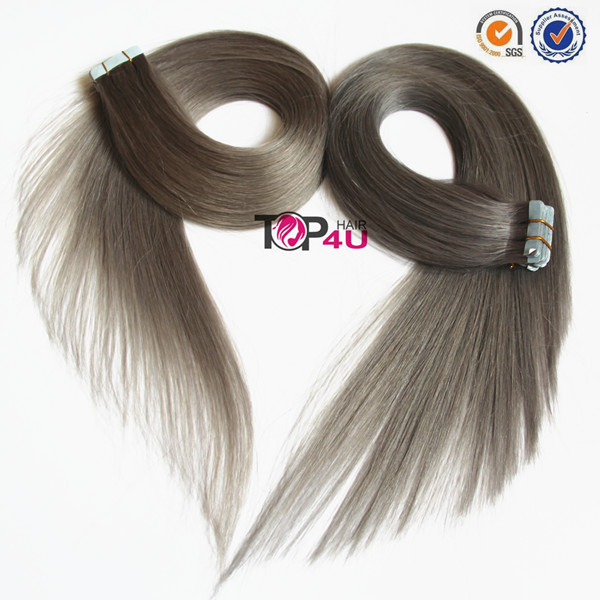 Brazilian Remy Double Drawn Grey Tape Extensions
