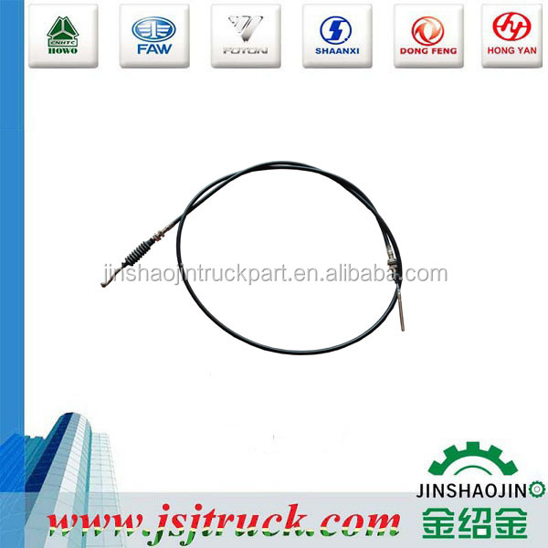 high quality auto spare parts sinotruck throttle cable WG9725570201