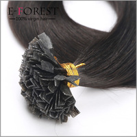 Factory Hair Wholesale Top Quality Peruvian Human Hair Last Long Flat Tip Remy Hair Extension