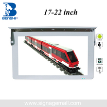 19.5 inch sexy fuLL HD lcd/led vedio bus TV install in sunvisor be used train