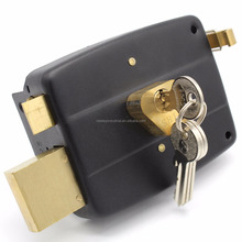 China adjusted door thinkness zinc night latch rim door lock