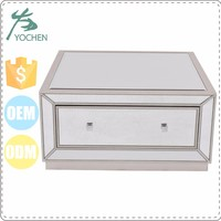 wooden bedroom mirrored furniture drawer