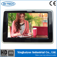 Car 9'' headrest dvd 16:10 LCD monitor 9 inch car headrest dvd player with wireless headphone