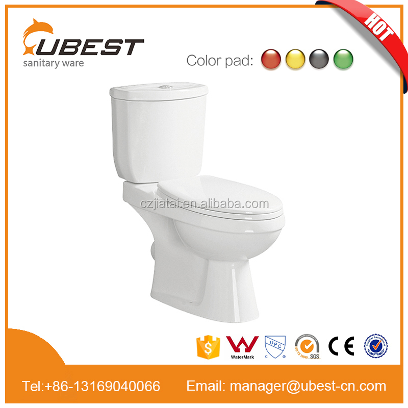Two pieces washdown types of water closet price of ceramic toilet